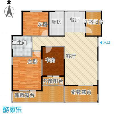 阳光尚城121.19㎡四期户型3室2厅1卫