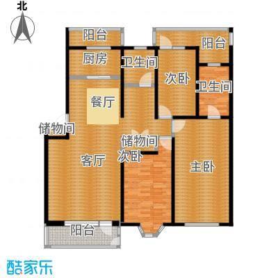 世代龙泽湾148.00㎡6#8#10#B户型10室