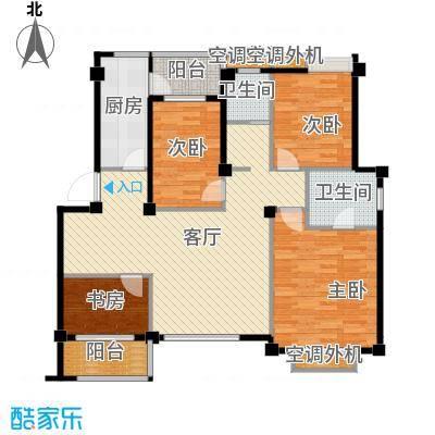小骆花园116.92㎡户型4室1厅2卫1厨
