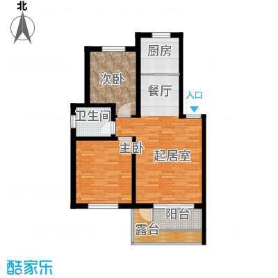 水墨丹青砚池90.60㎡一组图1#2#楼三层A户型2室1卫1厨