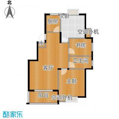 小骆花园83.54㎡户型3室1厅1卫1厨