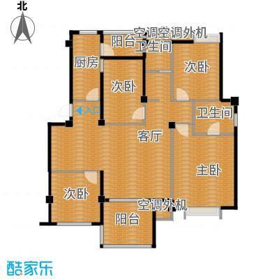 小骆花园125.78㎡户型4室1厅2卫1厨