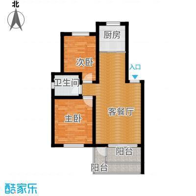 水墨丹青砚池88.00㎡-户型2室1厅1卫1厨