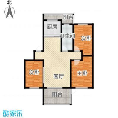 水墨丹青砚池105.00㎡-户型3室1厅1卫1厨