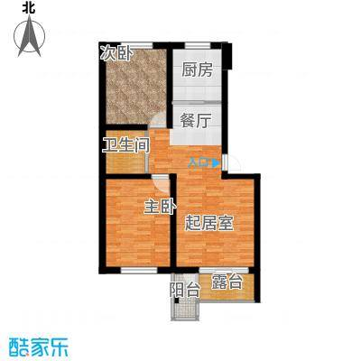 水墨丹青砚池86.13㎡五层F户型2室1卫1厨