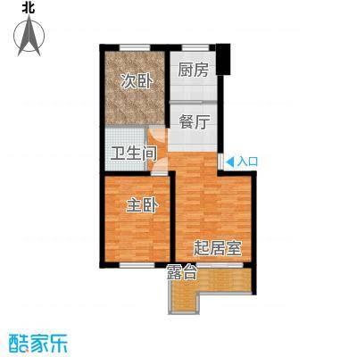 水墨丹青砚池89.85㎡标准层F户型2室1卫1厨
