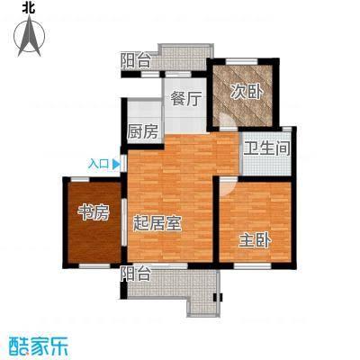 水墨丹青砚池104.00㎡五楼E户型3室1卫1厨