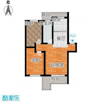 水墨丹青砚池92.40㎡1组团1#2#楼四层B户型2室1卫1厨