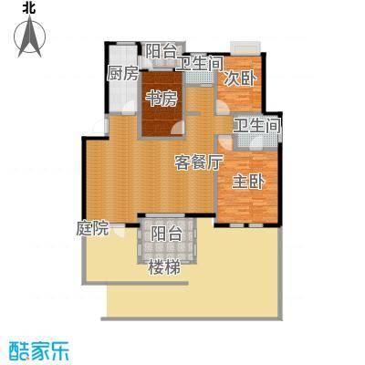 小骆花园120.31㎡5#7#户型3室1厅2卫1厨