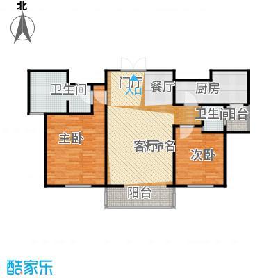 浦江盛景湾111.00㎡b1户型2室2卫1厨