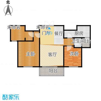 浦江盛景湾107.00㎡房型户型2室1卫1厨