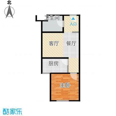 华鸿国际中心37.38㎡1-C使用面积户型1室1厅1卫