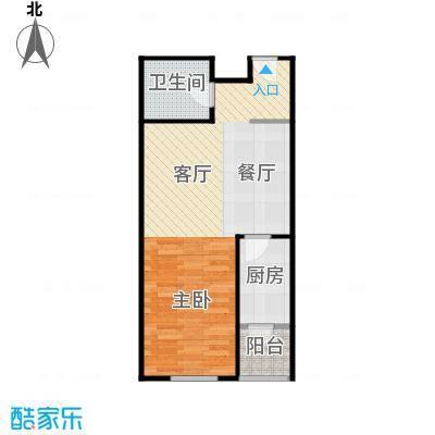 华鸿国际中心41.82㎡1-B使用面积户型1室1厅1卫