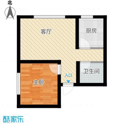 帝景湾52.00㎡晶座户型1室1厅1卫