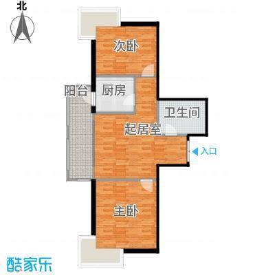 华风海城湾65.75㎡4#楼二单元04号2室户型2室1卫1厨