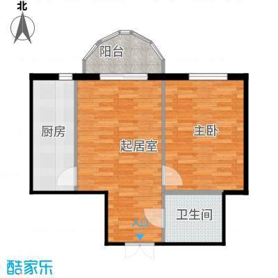 华风海城湾46.49㎡4#楼二单元05号1室户型1室1卫1厨