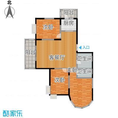 盟科观邸93.00㎡-户型3室1厅2卫1厨