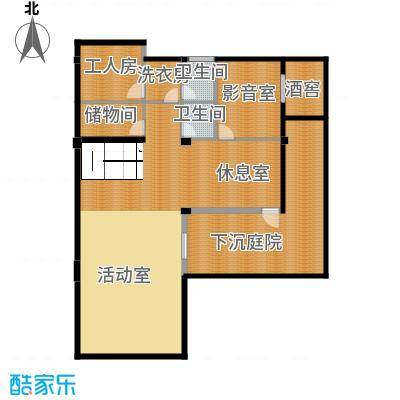 莫干山观云庄园474.00㎡F1地下层户型10室