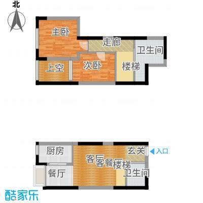 华润置地凯旋门88.54㎡华润置地凯旋门户型图二室二厅二卫(5/19张)户型2室2厅2卫