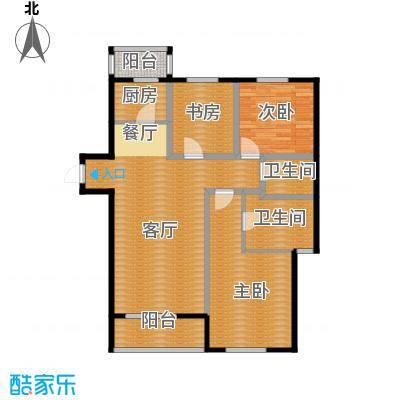 景星花园124.00㎡A3户型3室2厅2卫