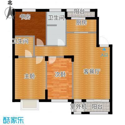 天和人家95.35㎡住宅10604--户型3室2厅2卫