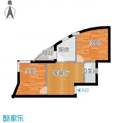 天和人家56.90㎡最新户型2室2厅1卫