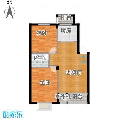 天和人家87.25㎡最新户型2室2厅1卫