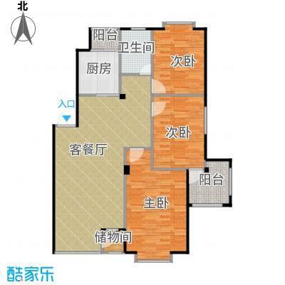 天和人家110.18㎡最新户型3室2厅1卫