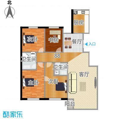 天和人家146.11㎡A户型4室2厅2卫