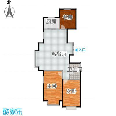 惠盛苑118.00㎡房型户型3室1厅1卫1厨