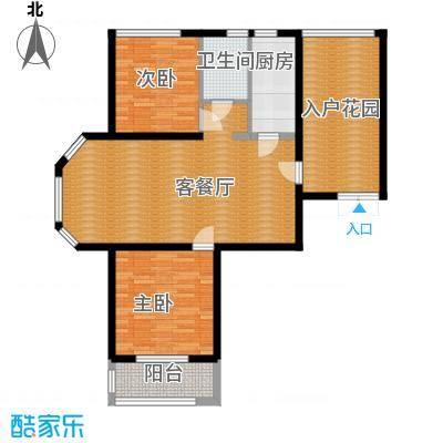 国仕山115.00㎡n1户型2室2厅1卫