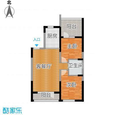 澳海西湖印象88.00㎡B区e-01户型2室1厅1卫1厨