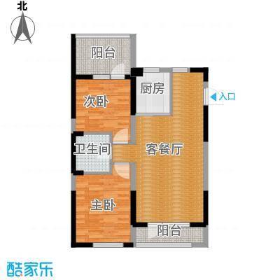 澳海西湖印象88.00㎡B区f-01户型2室1厅1卫1厨