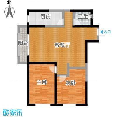 碧桂园凤凰城103.23㎡高层户型2室2厅1卫
