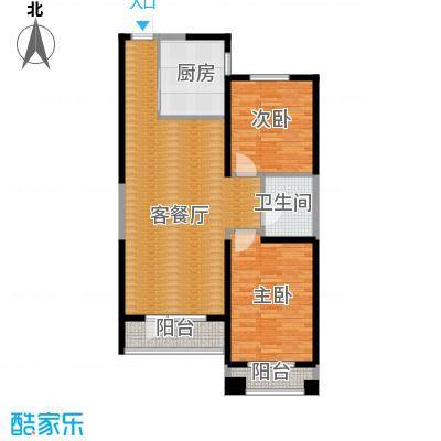 碧桂园凤凰城95.12㎡左邻右里户型2室2厅1卫