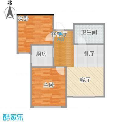 泰盈十里锦城76.69㎡C户型2室2厅1卫