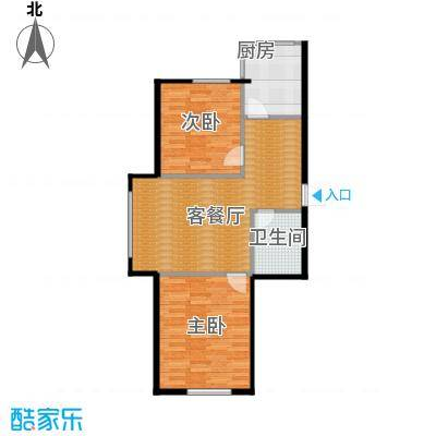 满融国际新城72.00㎡D户型2室1厅1卫
