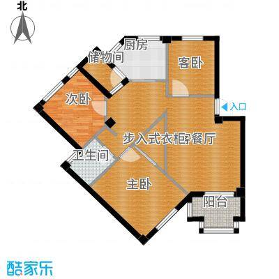荣安花园83.95㎡户型3室1厅1卫1厨