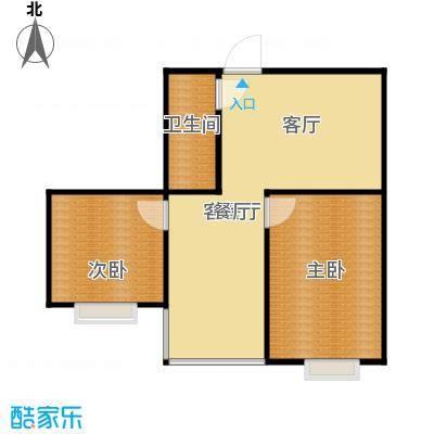 满融国际新城69.00㎡C4户型2室1厅1卫
