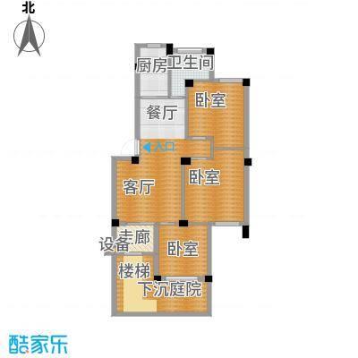 荣安花园95.68㎡户型1厅1卫1厨