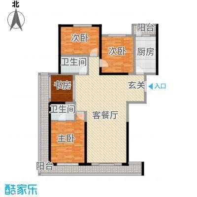 领先国际172.72㎡户型4室2厅2卫