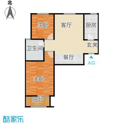 百岛绿城102.63㎡8号10号12号15号楼A3户型2室2厅1卫
