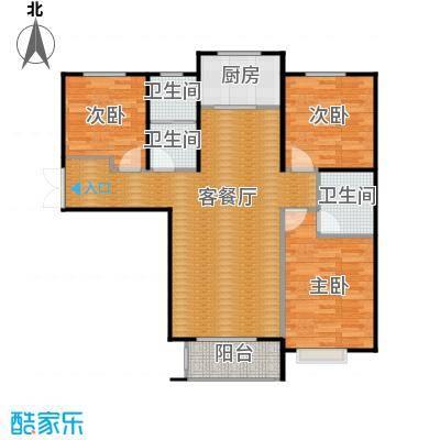 天河悦城128.27㎡A2户型3室2厅2卫