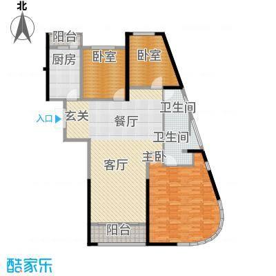 领先国际155.77㎡户型3室2厅2卫