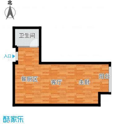 佳兆业中心41.38㎡F户型1室1厅1卫