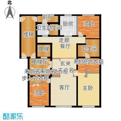万科春河里200.00㎡4号和7号楼中间户型3室2厅2卫