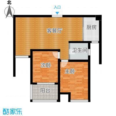 江雁mini格调82.84㎡二期14、15号楼标准层D3户型10室