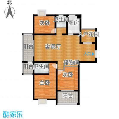 江雁mini格调140.43㎡二期16-19号楼标准层C1户型10室