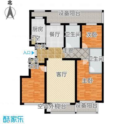 绿城沈阳全运村140.00㎡B2户型 三室两厅两卫户型3室2厅2卫