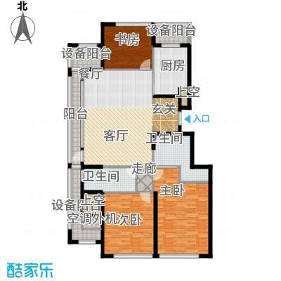 绿城沈阳全运村149.00㎡C'户型 三室两厅两卫户型3室2厅2卫
